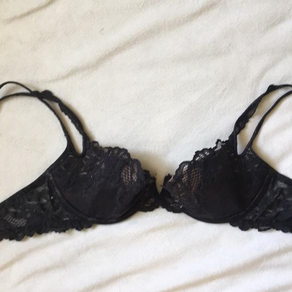 Victoria's Secret Other - [ Victoria's Secret Sexy Black Lace Demi Bra ] 34c